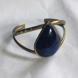 Gorgeous deep blue swirled cuff